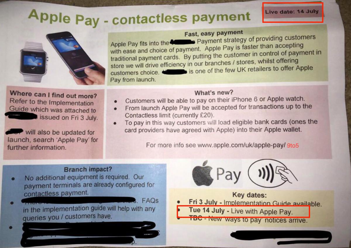 apple pay uk leak