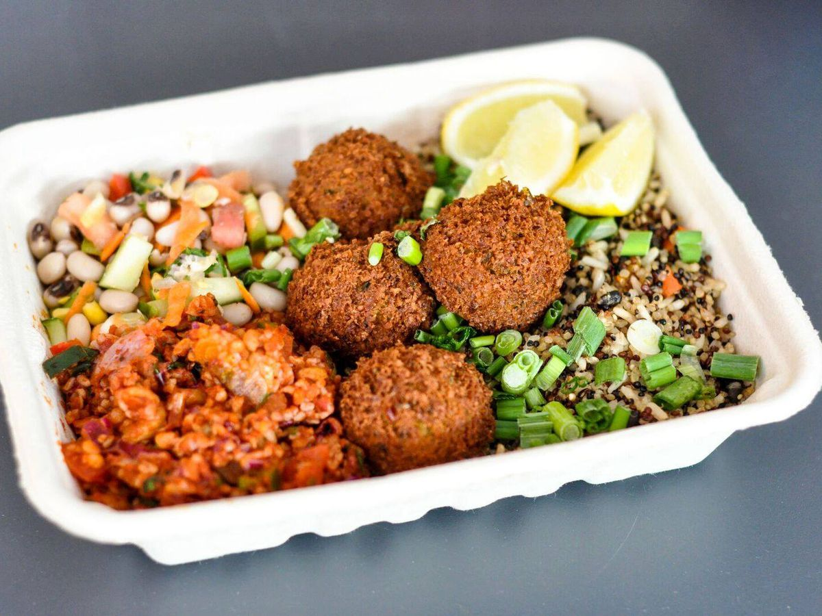 The falafel and grain bowl from MezzeMe