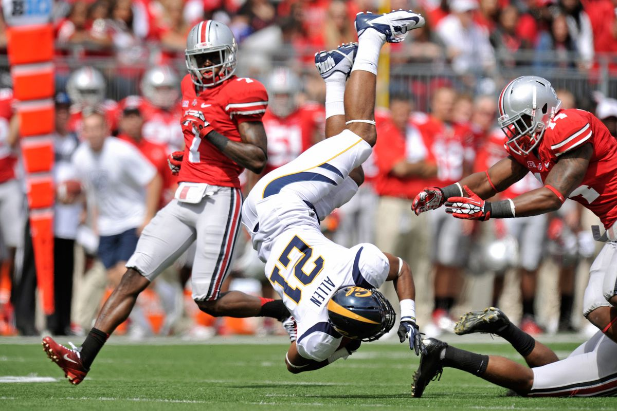 Curtis Grant's Ohio State career has been upside down in Columbus.