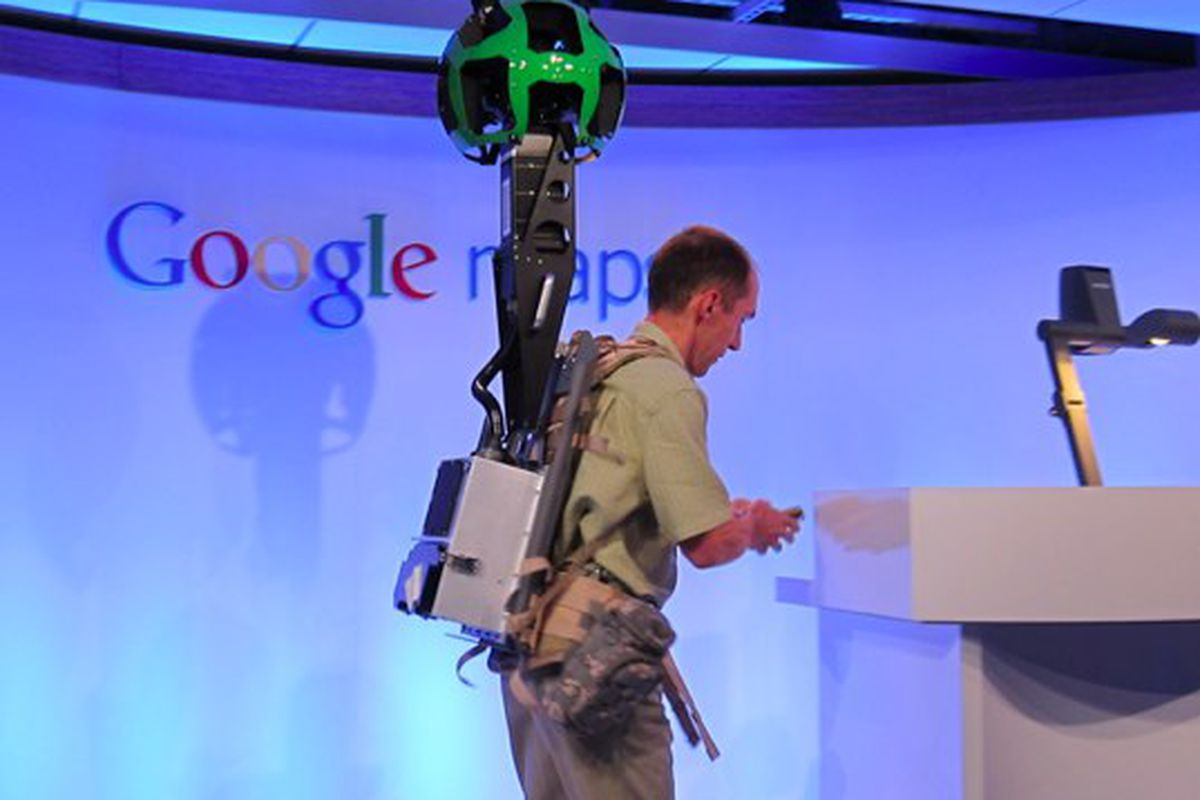Google using 360-degree backpack cameras for new Street View ... on see your house street view, google maps house view, google earth street view usa, google 360 degree street view, google maps panoramic view, 360 degree satellite view, google earth 360 view, 360 degree customer view, houses with 360 degrees view, google maps space view, google my home aerial view, google maps bird's eye view, virtual reality 360 degree view, camera 360 degree view, google maps street view,