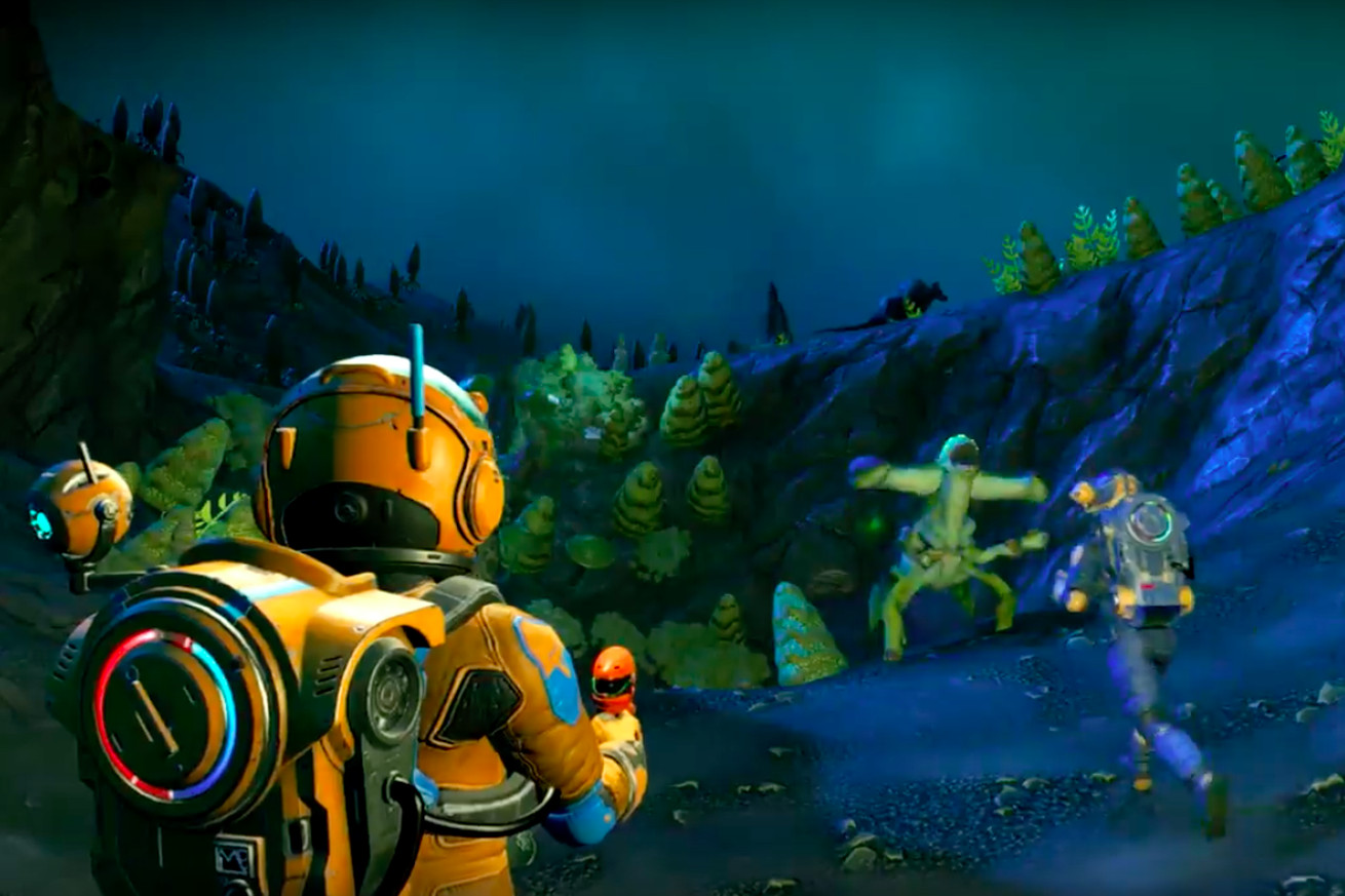 your first look at no man s sky s big multiplayer update in action