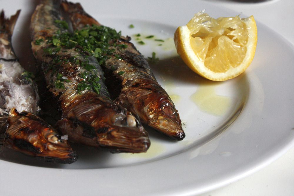 Grilled sardines at Hereford Road