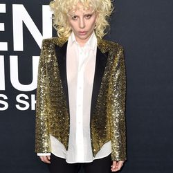 Lady Gaga at Saint Laurent. Photo: C. Flanigan/Getty Images