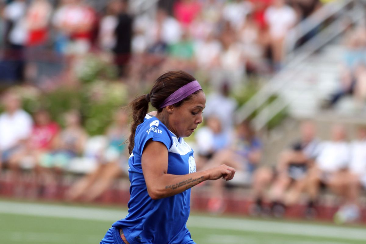 By celebrating forward Sydney Leroux more frequently, the Breakers may develop a stronger fan base