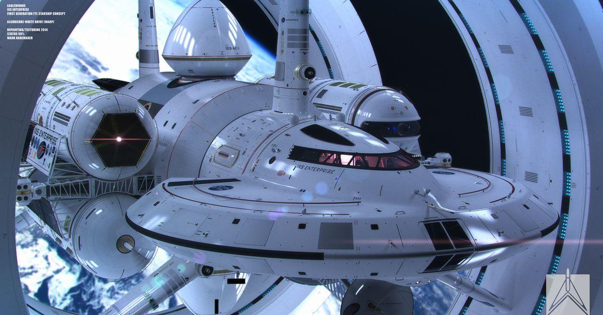 космический корабль в чуждой