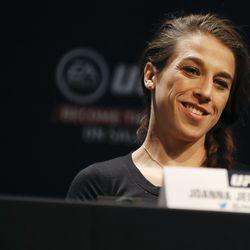 Joanna Jedrzejczyk at UFC 231 presser.
