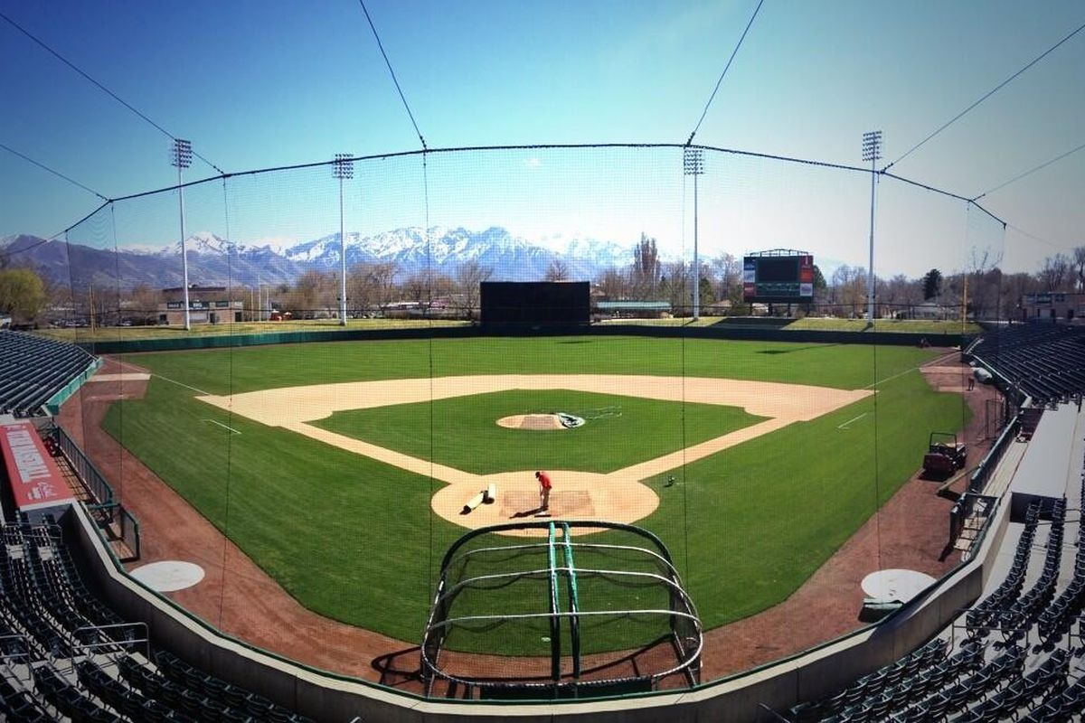 Utah will return to Smith's Ballpark, above, for the fourth and final game in the series with BYU. The Cougars lead the series 2-1.