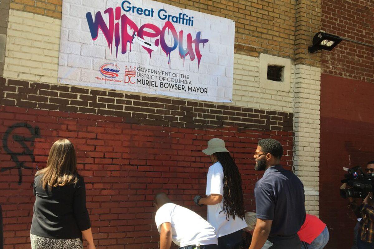 D c kicks off an 8 week graffiti removal blitz