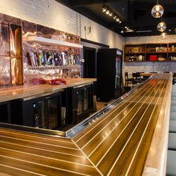 The main bar, with 36 taps