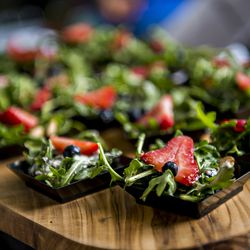 Strawberry summer salad from the chefs at Wind Creek Casino and Resort.