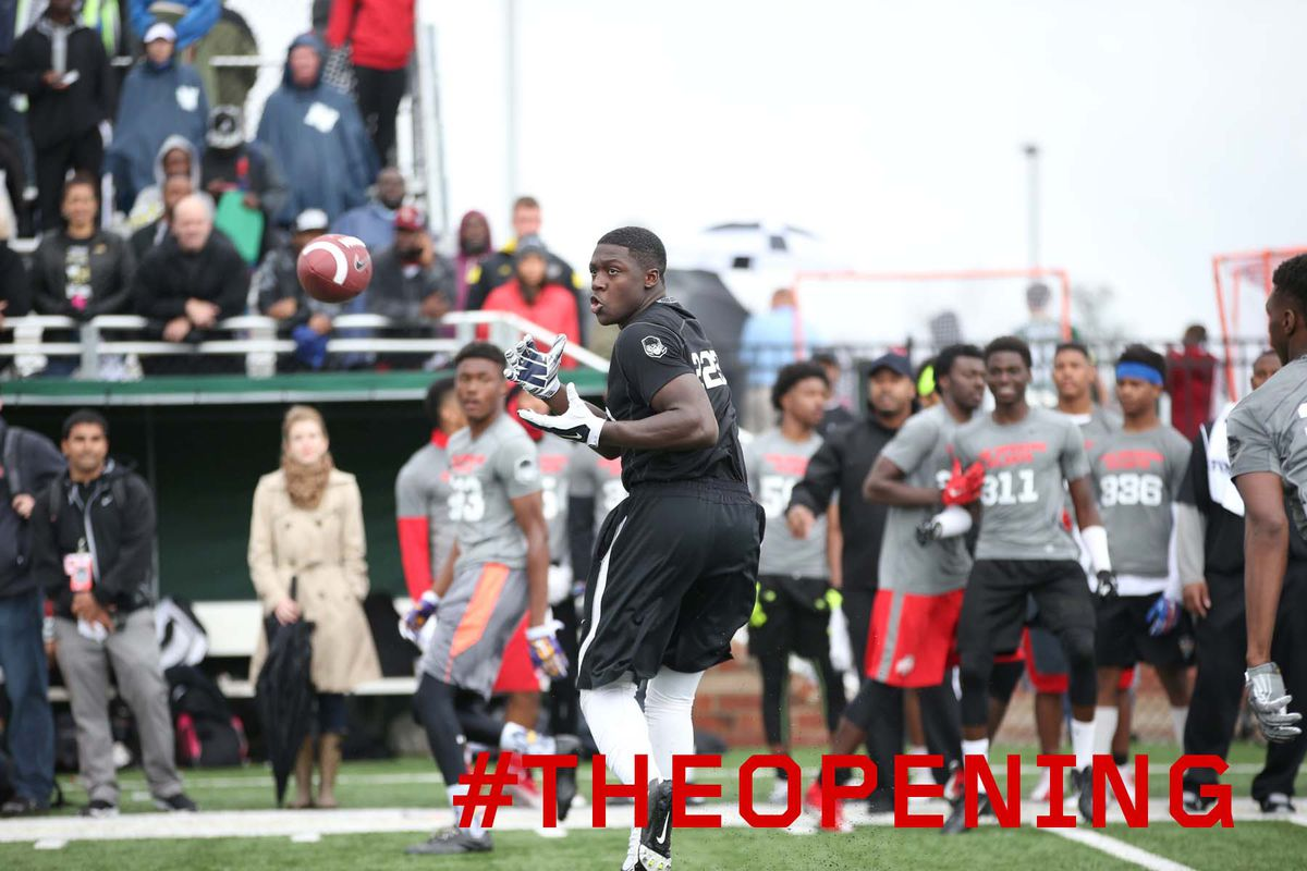A.J. Brown in action at the Atlanta The Opening regional camp