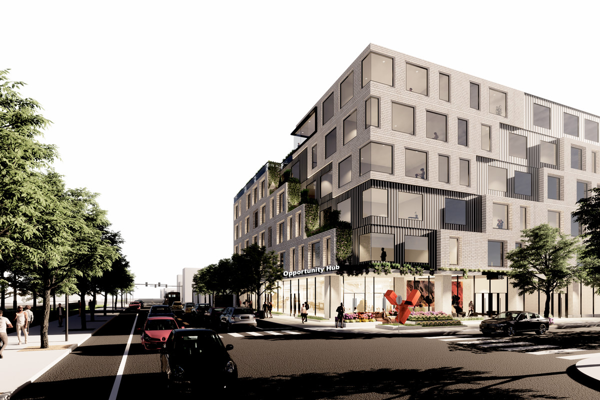 A proposal would bring affordable apartments and a business hub to city-owned land at 1515 W. 47th St.