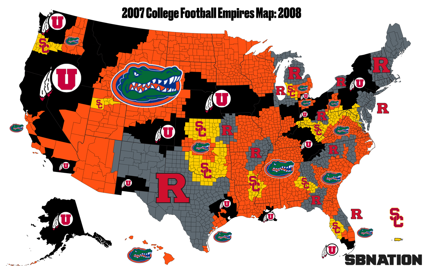 2007 college football: Empires Map guide to the wildest ...