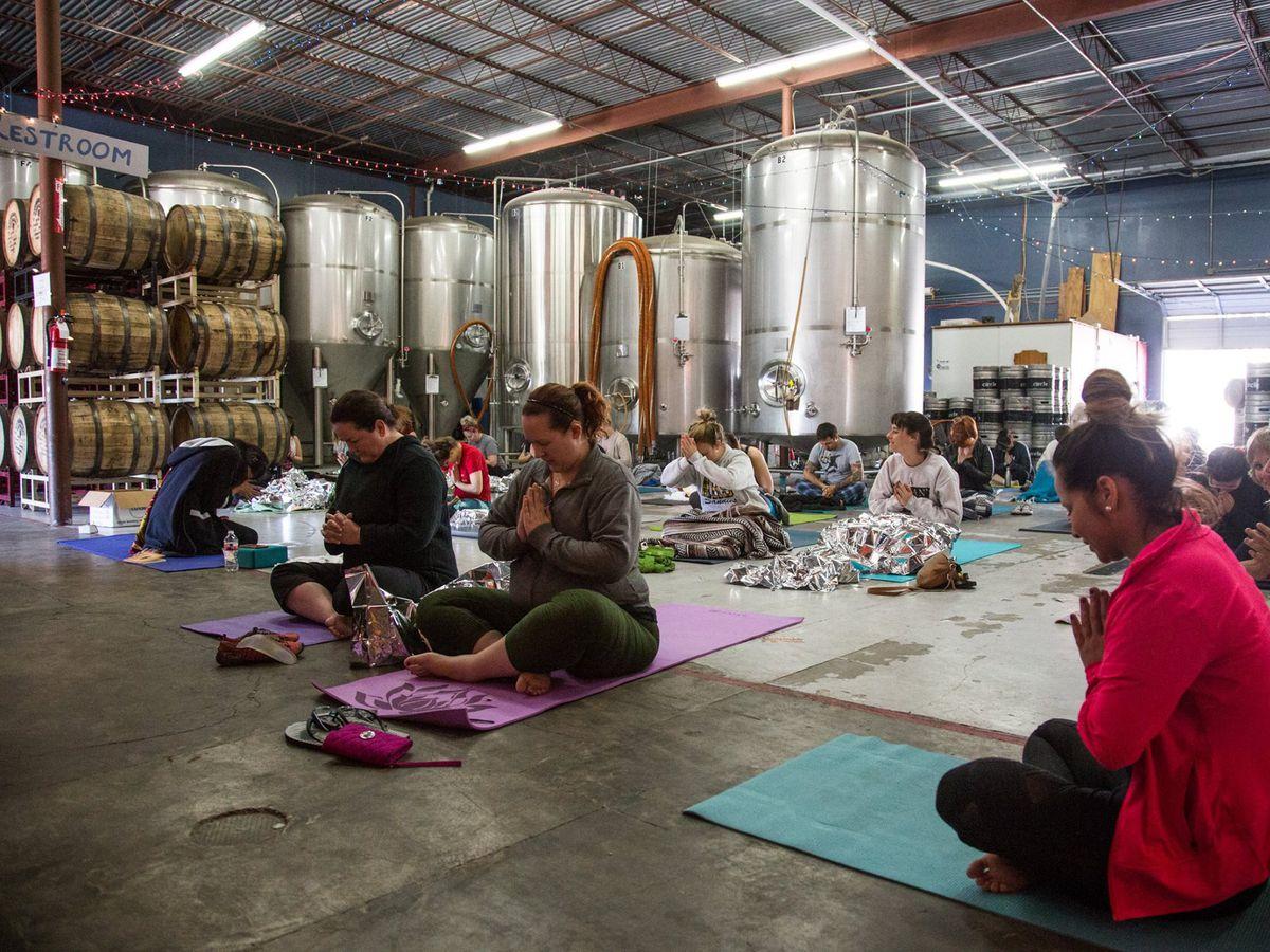 Yoga at Circle Brewing Company