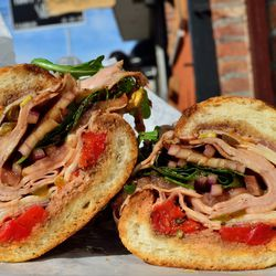 """The (Spicy) Godfather at Graham Avenue Meats & Deli by <a href=""""https://www.flickr.com/photos/savoreverything/14408002227/in/pool-eater/"""">SavorEverything"""