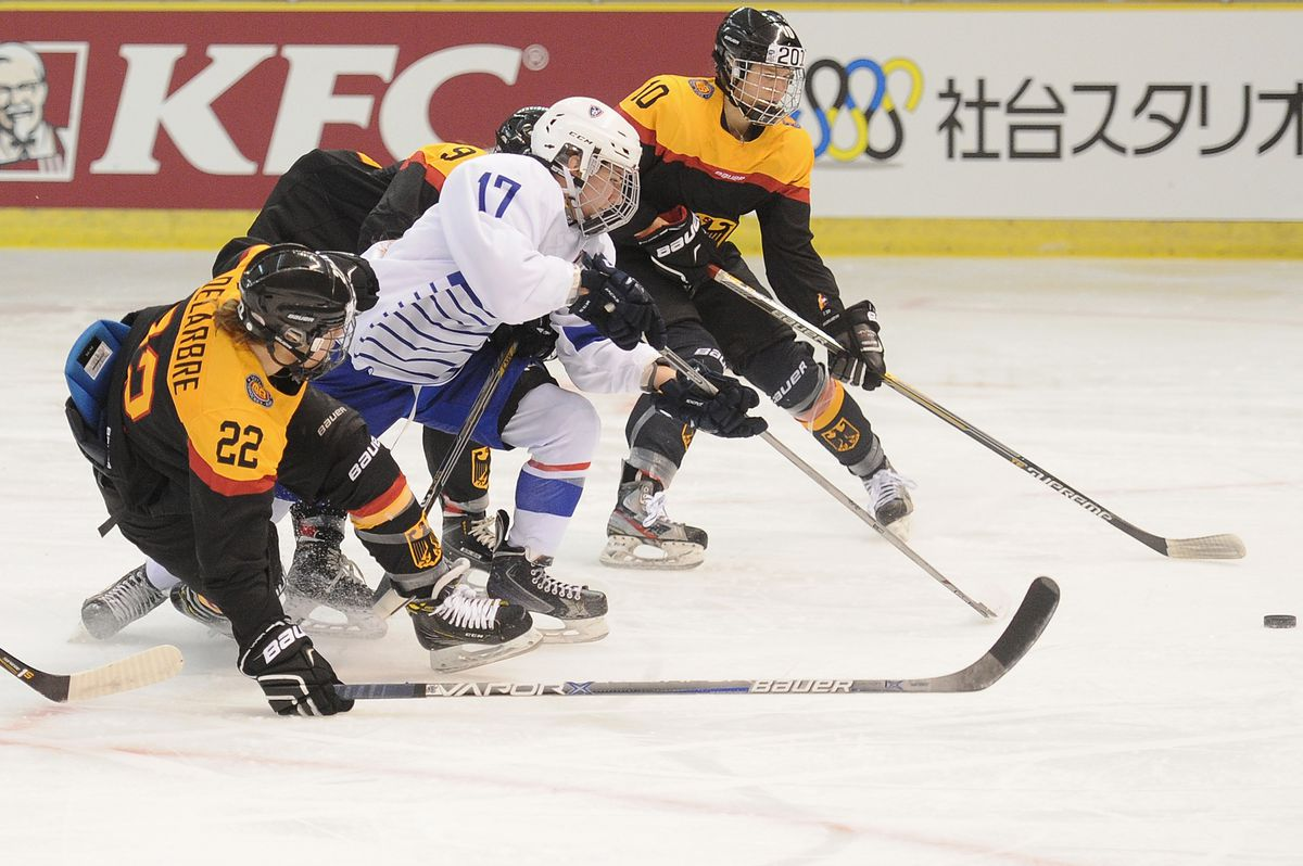 Germany v France - Women's Ice Hockey Olympic Qualification Final - Group D
