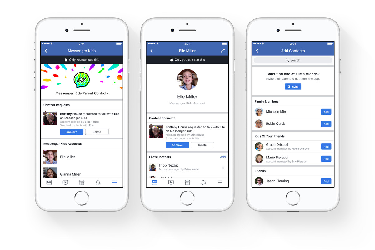 Facebook launches a version of Messenger for young children