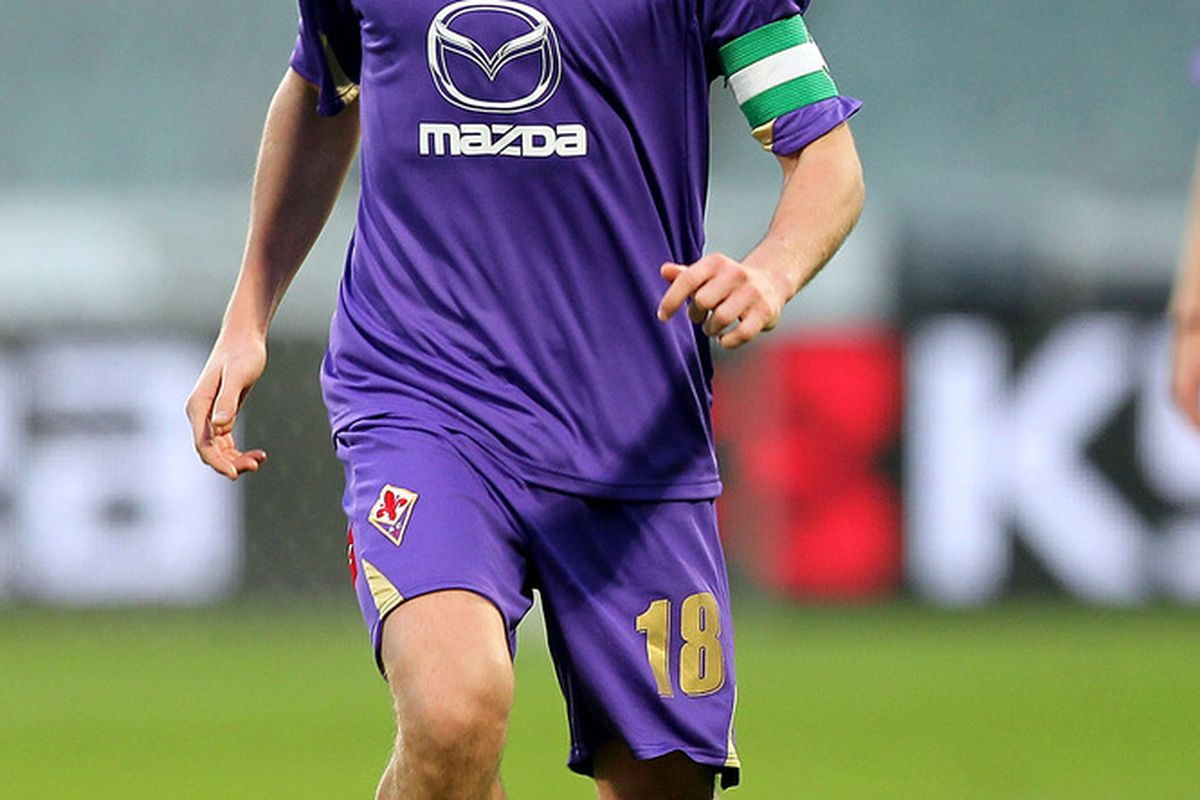 One of the many upsides to having Fiorentina midfielder Riccardo Montolivo in your pocket is the assurance that you will never be in need of rubber bands. (Photo by Gabriele Maltinti/Getty Images)