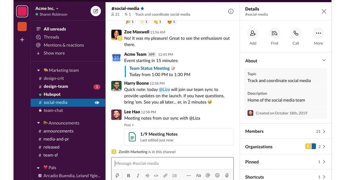 Slack - best alternatives of Microsoft Teams