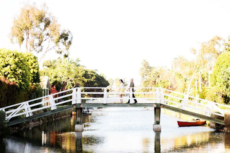 Venice Canals Engagement Photo