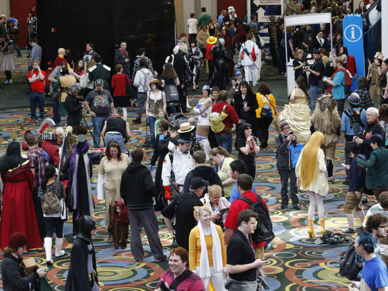 Fans attend Salt Lake Comic Con FanX at the Salt Palace in Salt Lake City Saturday, Jan. 31, 2015.