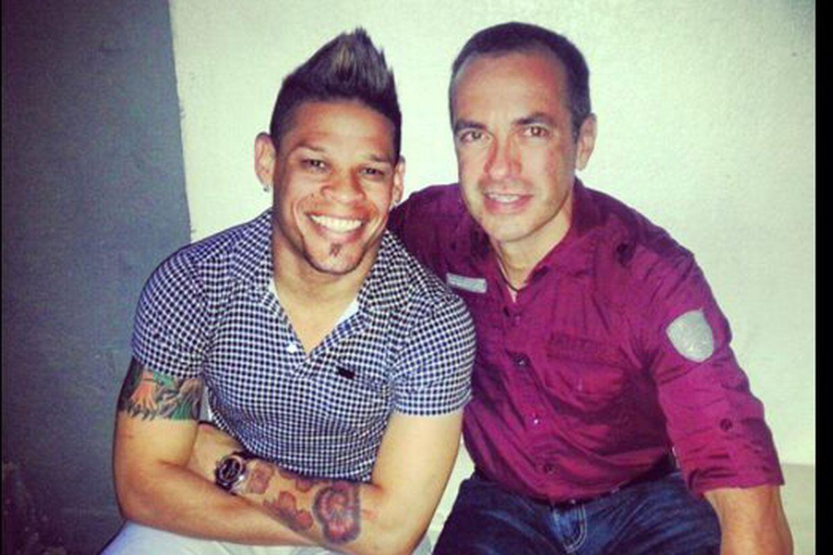 Orlando Cruz, left, and José Manuel