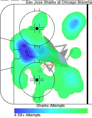 San Jose Sharks vs Chicago Blackhawks NHL hockey