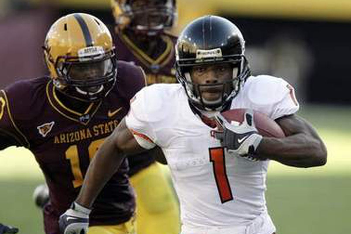 """Jacquizz Rodgers intends to """"do better"""" against Arizona St., as he did in last season's Oregon St. win."""
