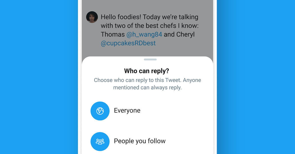 Twitter is for real rolling out its reply-limiting feature to all users – The Verge