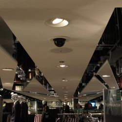 There is a Mirrored Union Jack in the Ceiling