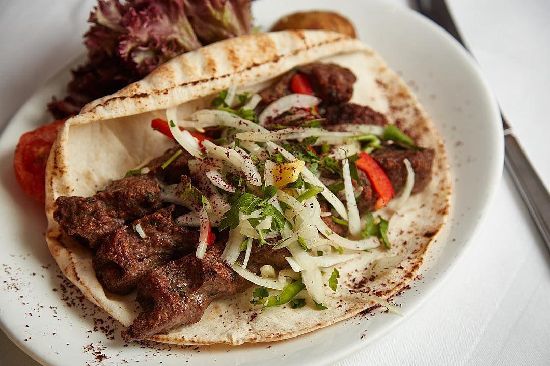 Pita at Maroush, a classic London restaurant