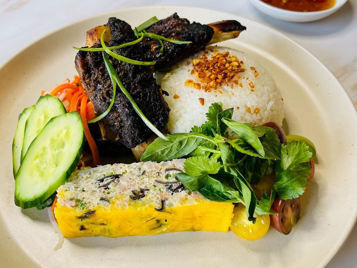 Fil N' Viet's braised and grilled beef ribs and chả trứng