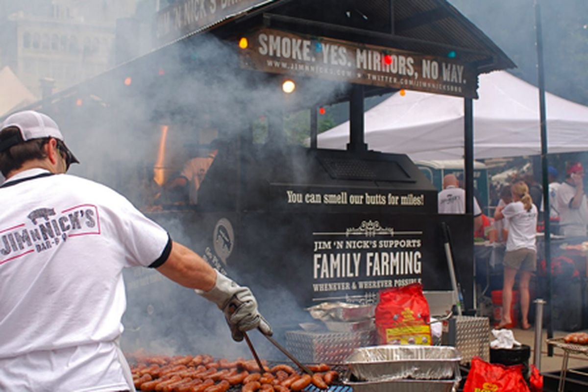 Jim 'N Nicks at the Big Apple Barbeque Block Party 2011