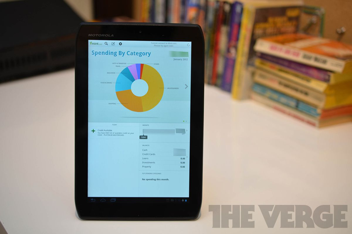 mint app for android tablets released adds charts and graphs hands