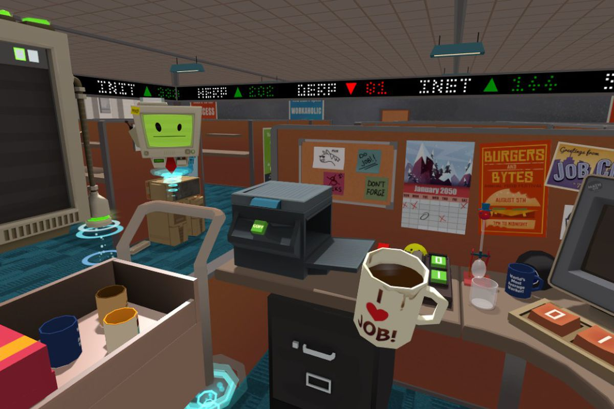 The future of virtual reality games is soul-killing office work ...