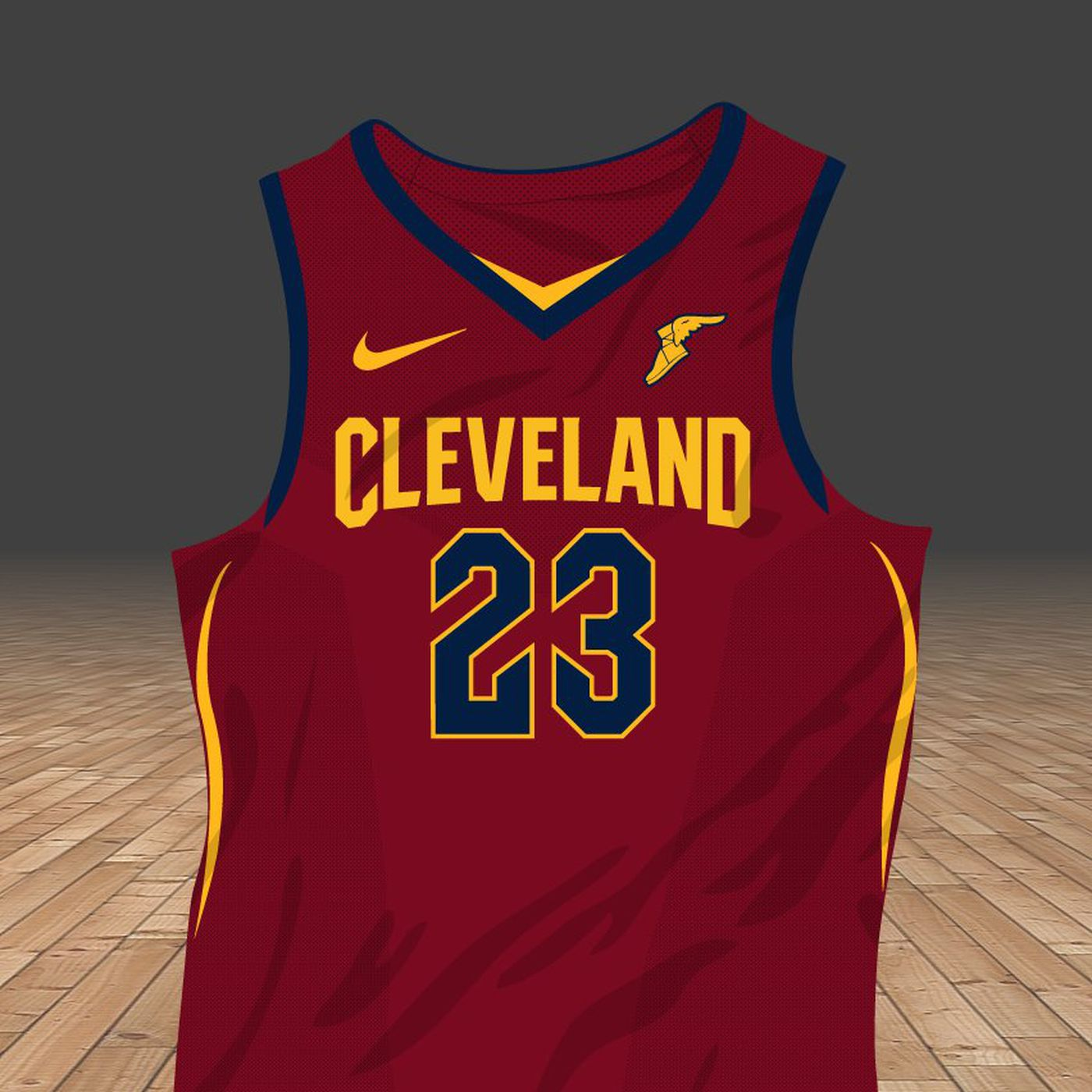 b801bf778a2 ... netherlands heres a first look at the cavs new jerseys fear the sword  03d25 606ca