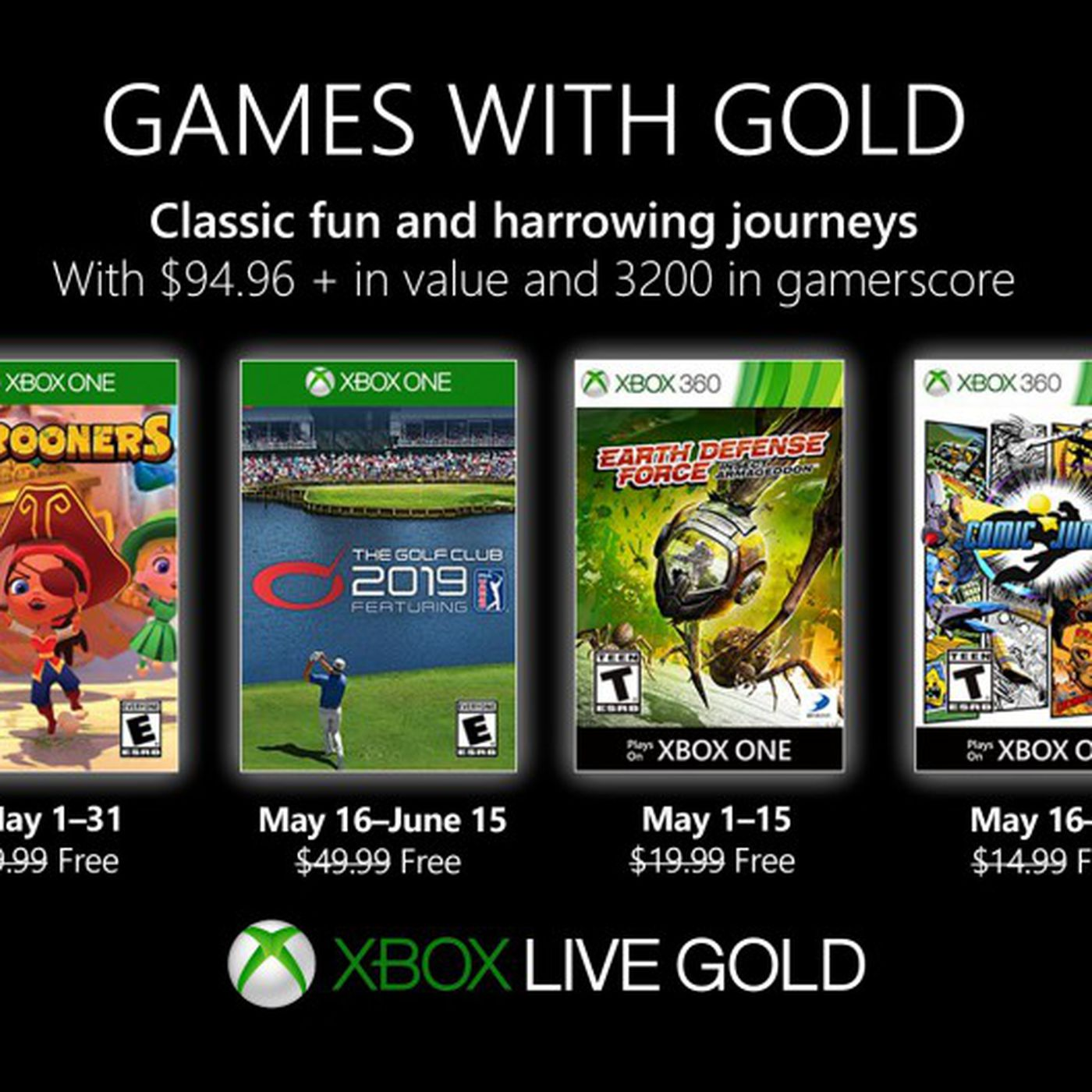 Xbox Gold Games June 2020.Xbox Games With Gold May 2019 Free Games Announced Polygon