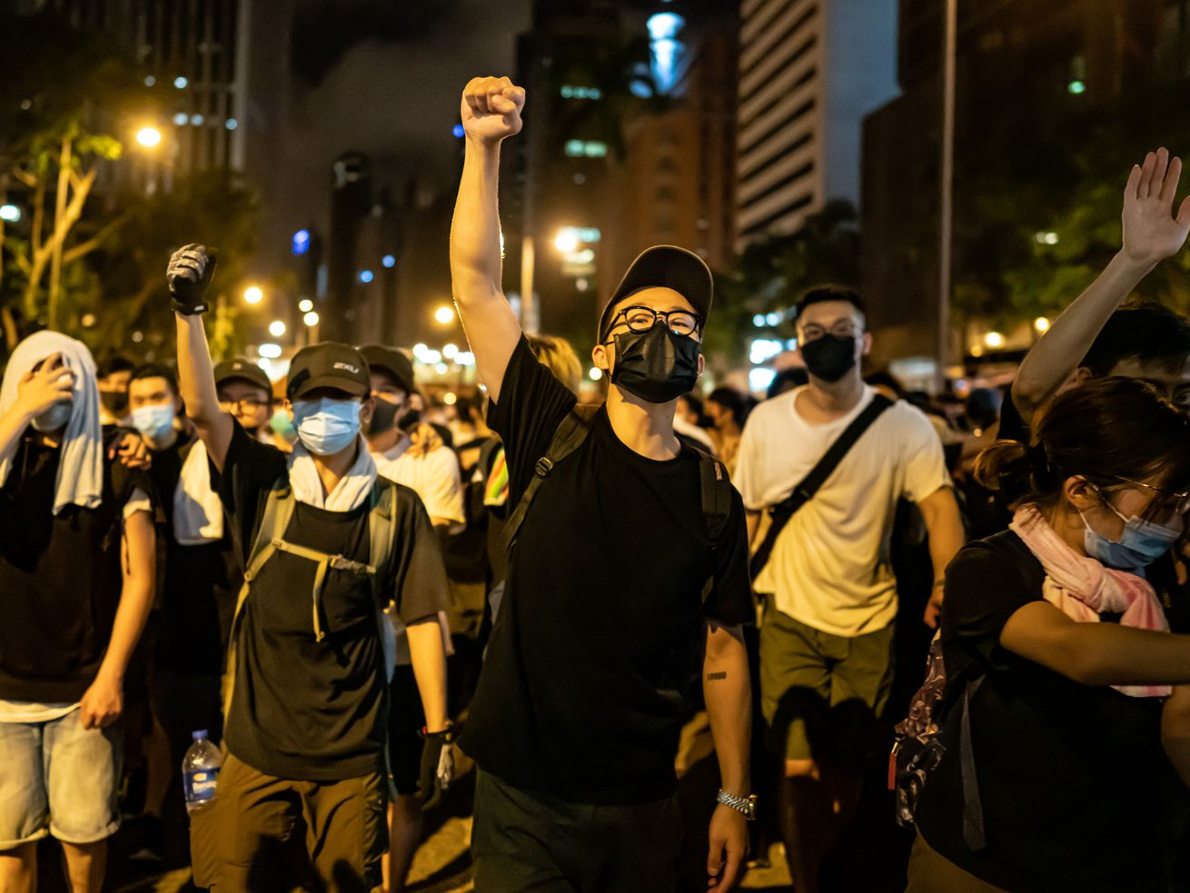 People protest an extradition law in Hong Kong on June 10, 2019, part of a larger fight for democracy in China.