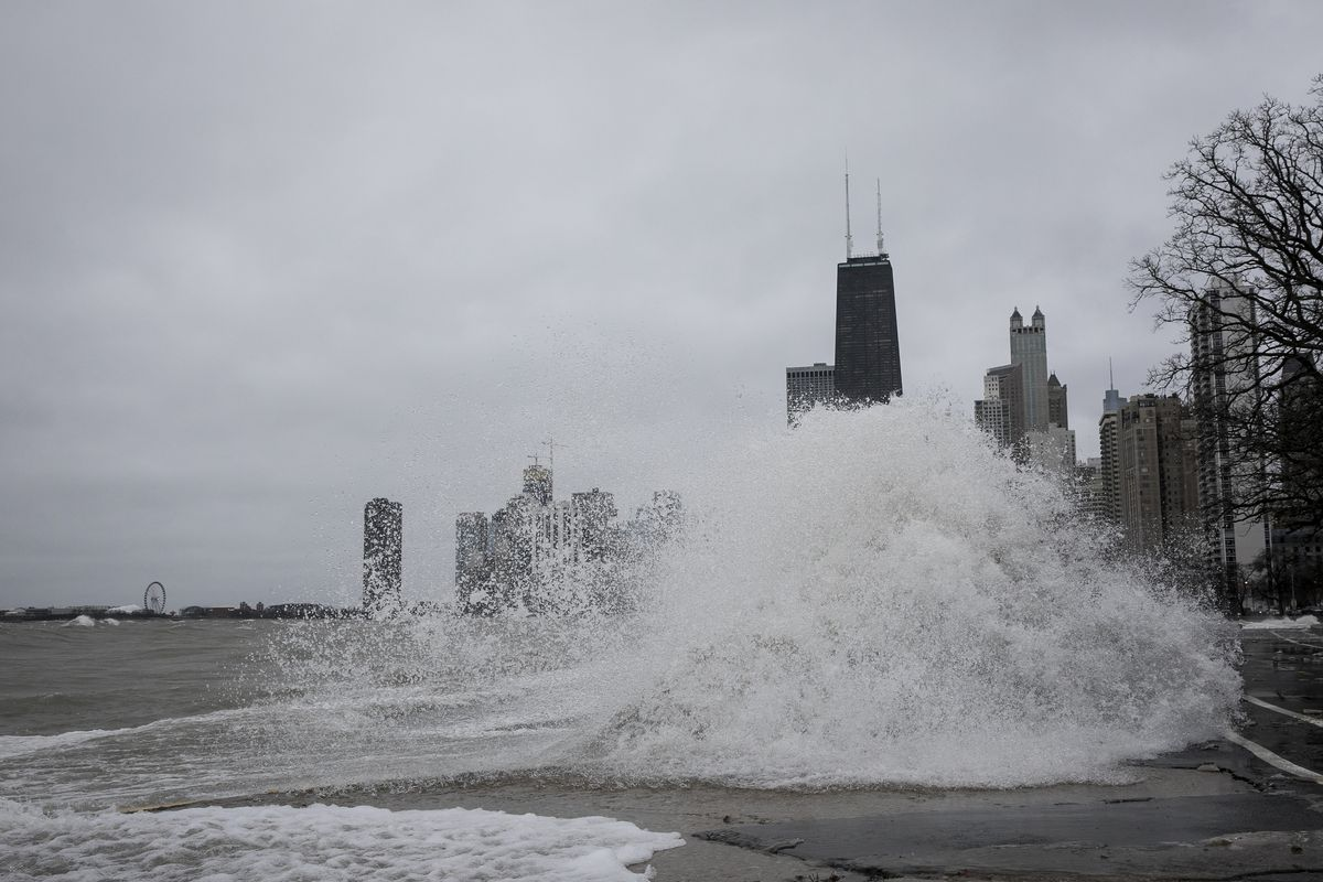 A flood warning and warning was issued for Cook County.