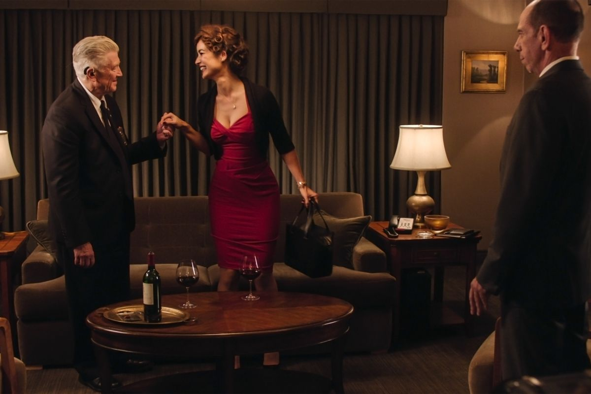 David Lynch and Miguel Ferreras Gordon and his date on Twin Peaks
