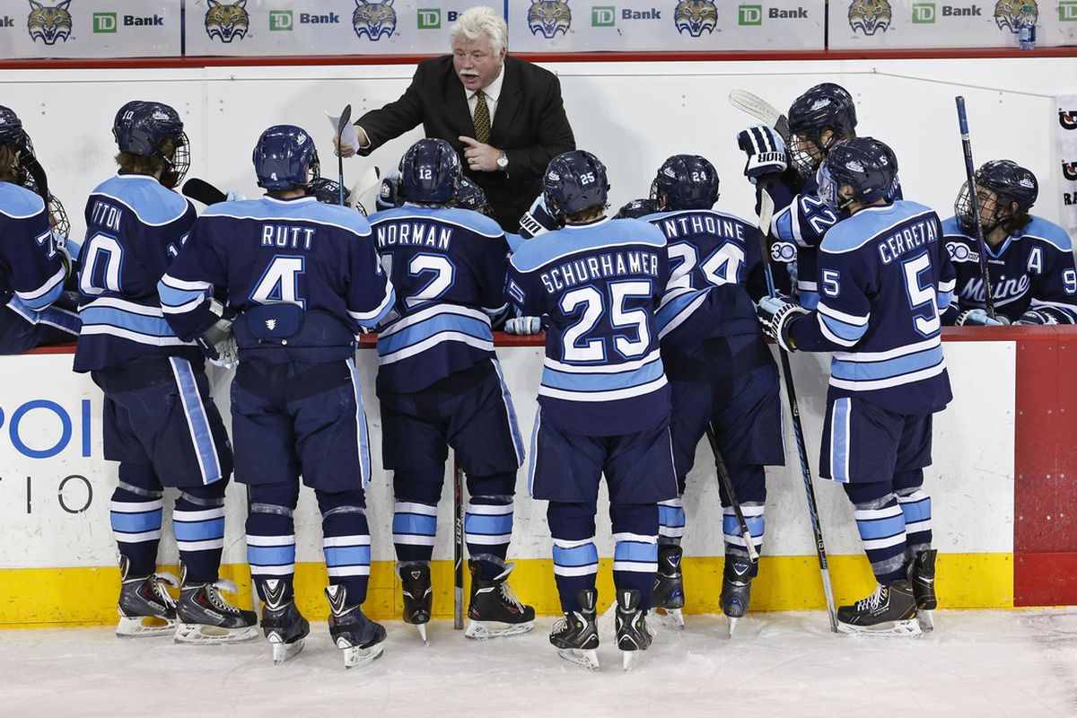 Maine coach Red Gendron was one of several coaches to remind media that everyone is still undefeated.