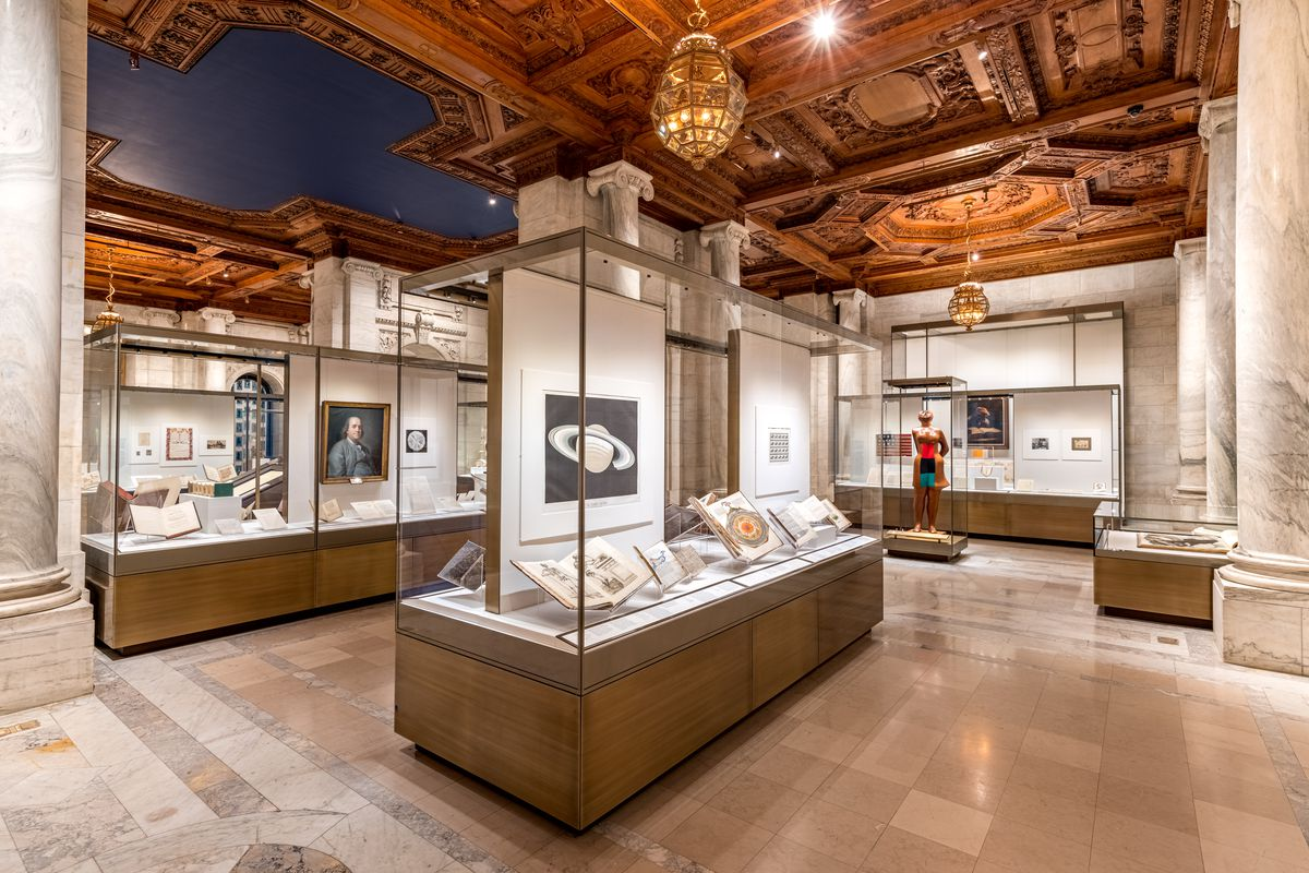 The Treasures exhibition at the New York Public Library.