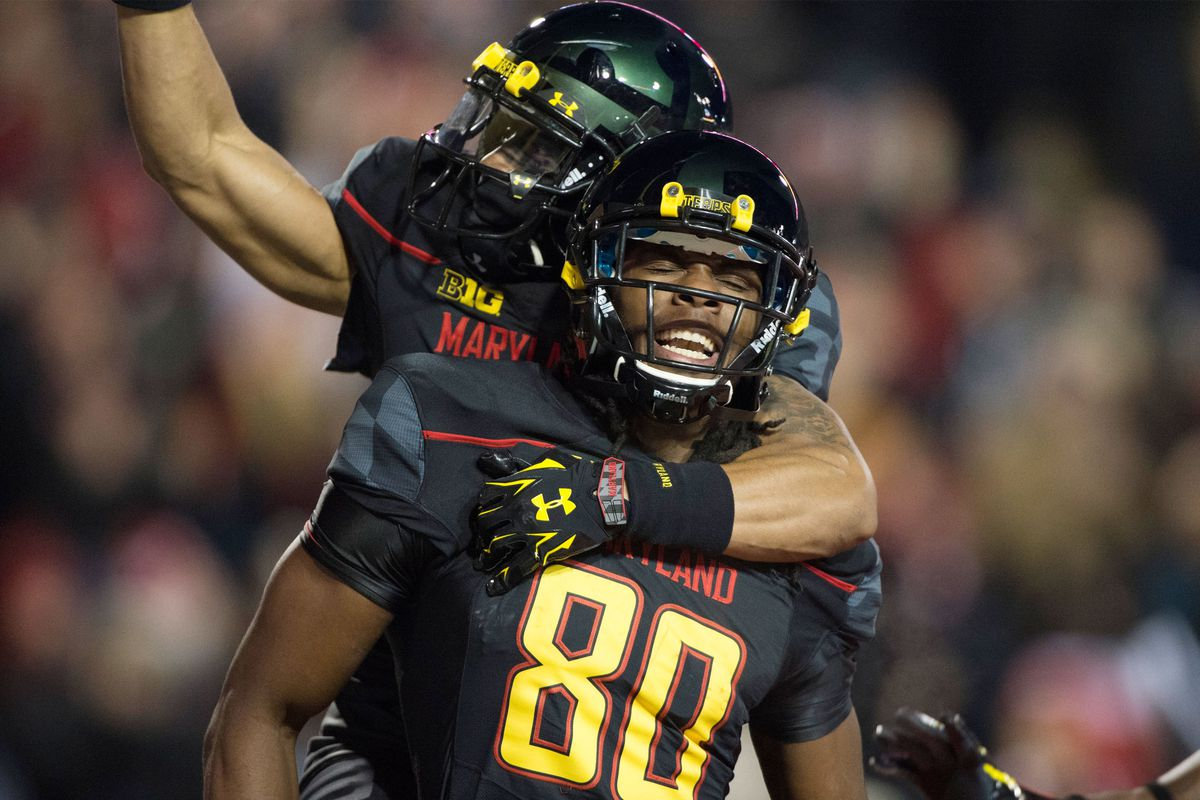 Maryland receiver Daniel Adams made his first career reception for the Terps on Saturday – a 20-yard touchdown from C.J. Brown.