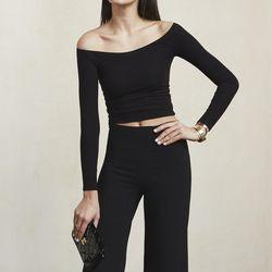 Moraine top in black, $58