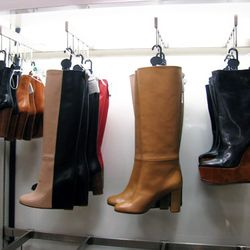 Céline boots. The wedges on the far right are $249 (from $800.)