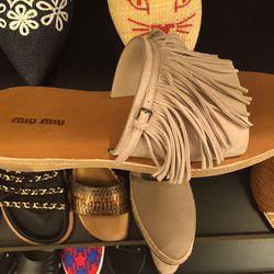 Miu Miu sandal, $245 (was $490)