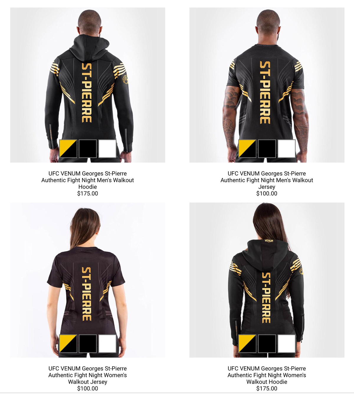 New UFC Venum Fight Kits