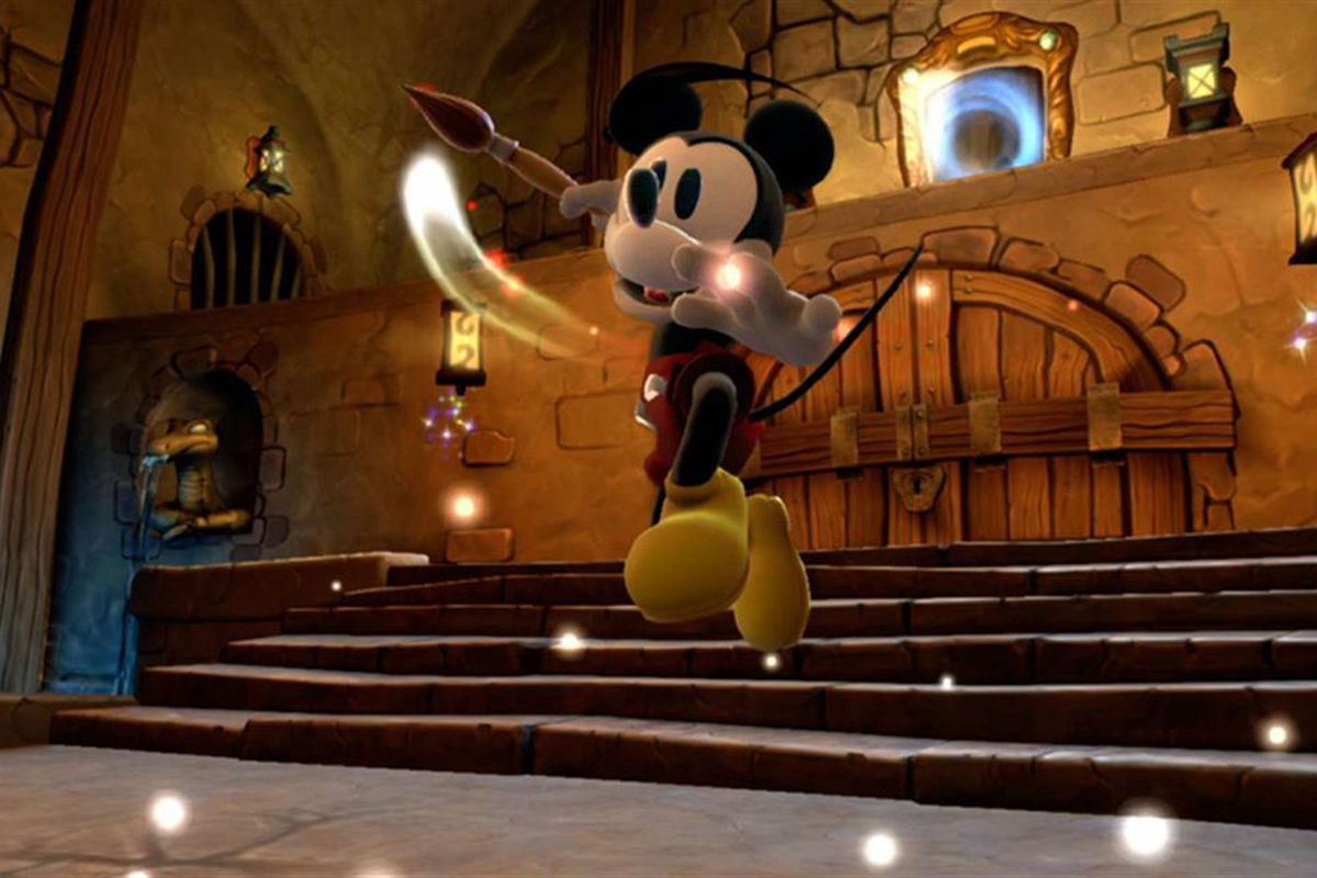 """Use a magic paintbrush to save a dark Disneyland-inspired world from the Mad Doctor in """"Epic Mickey 2."""""""