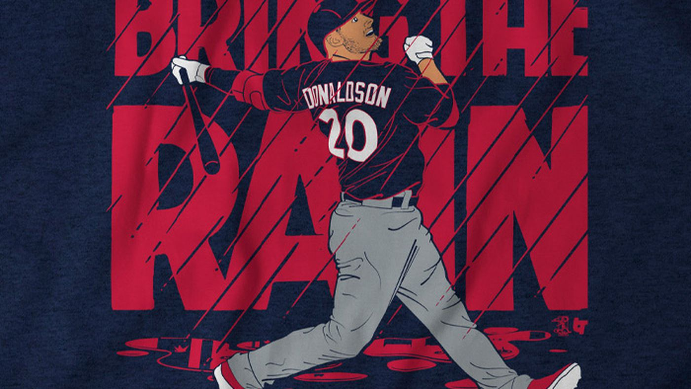 """new product f6780 169be Get your Josh Donaldson """"Bring The Rain"""" T-Shirt from ..."""