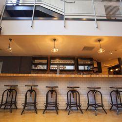 Downstairs bar, upstairs catwalk